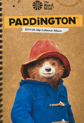 2019 Royal Mint Paddington Bear 50p Coin Album Paddington at the Tower & St Paul