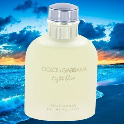 Dolce & Gabbana Light Blue Cologne Men Perfume 4.2 oz 125 ml Edt Spray TESTER
