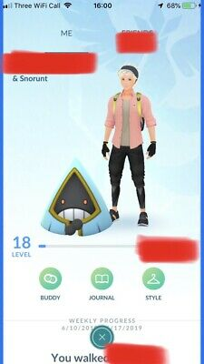 Pokemon Go Trade account Shiny Snorunt