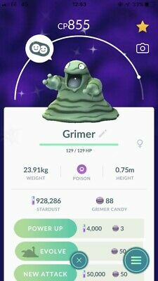 Pokemon Go Trade account 12 Shiny (Psyduck, Grimer, Murkrow & More)