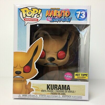 Funko POP! Kurama #73 Flocked 6 inch Naruto Shippuden Hot Topic Exclusive
