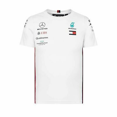 2019 Mercedes Petronas Motorsport Team Kids T-shirt White - 164 cm (kids)