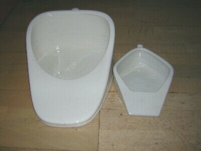A Pair of Slipper Bed Pans- large and small