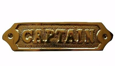 "Solid brass ""captain"" door sign ship captain's quarters nautical navy decorative"