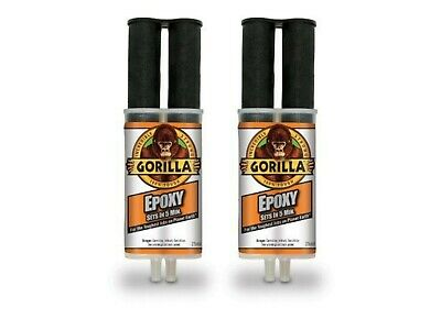 2 Pcs Gorilla Epoxy Glue 25Ml 5 Min Set Strong Versatile Bond Strength Adhesive