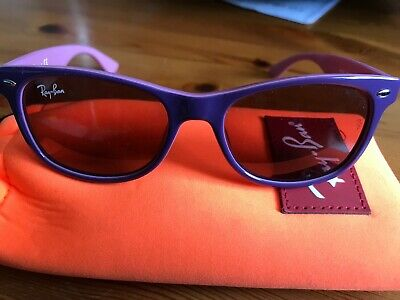 RAY-BAN Wayfarer Girls Junior Sunglasses Violet RJ 9052 179/84 18715