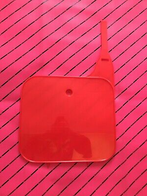 Cr 125 250 500 1992 1993 1994 UFO Front Plate Nuclear/ Flo Red Honda Oem Style