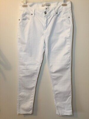 Zara Basic Ladies Ultimate Every Day White Skinny Jeans UK Size 12. VG Condition