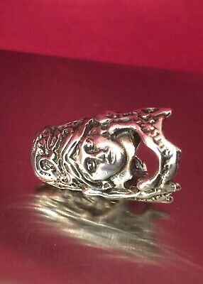 Vtg Antique Art Deco 1930 Solid Sterling Silver Thimble Fully Hallmarked. Rare!