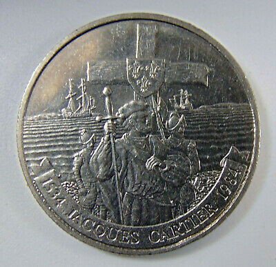 1534 - 1984 Canada One Dollar Jacques Cartier Canadian $1 Coin