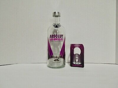 """Absolut Vodka Bottle """"Taste of Los Angeles"""" with Tag 750 ML Empty"""