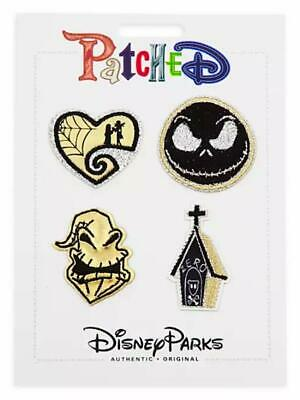 Disney Parks Patched Nightmare Before Christmas Jack Zero Patch Set Adhesive NWT