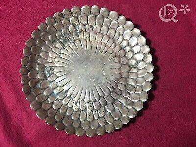 1930s Tiffany & co makers Sterling silver dish 25208 Chrysanthemum