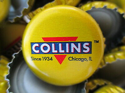 100 ( Collins Yellowish Gold Color ) soda/beer bottle Caps (No Dents). Free S&H