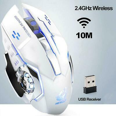 Rechargeable X8  LED Backlit USB Optical Ergonomic Gaming Mouse Wireless Silent