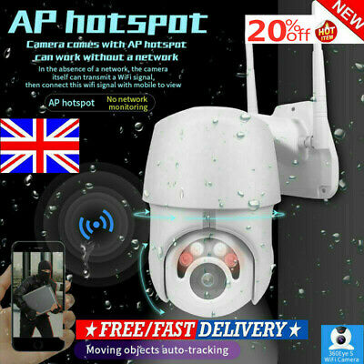 2019 1080P WIFI IP Camera Auto Tracking Outdoor CCTV HD Home Security IR Cam UK.