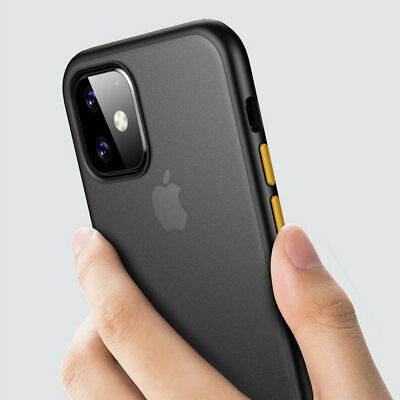 Ultra Thin Transparent PC Matte TPU Shockproof Case Cover For iPhone 11 Pro Max