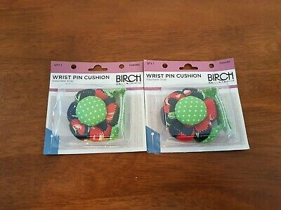 BIRCH Creative Australia Bulk x 2 WRIST PIN CUSHIONS Adjustable Strap
