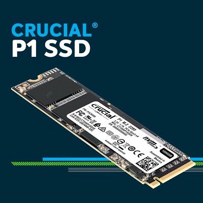 Crucial P1 1TB NVMe PCIe M.2 Solid State Drive SSD CT1000P1SSD8