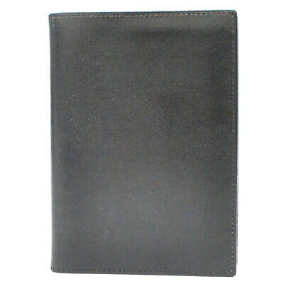 Authentic Hermes Agenda PM Leather Organizer Planner Note Case Black France 2006