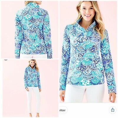 Lilly Pulitzer NWT Girls UPF 50 Cooke Cover-Up Turquoise Oasis Half Shell $68