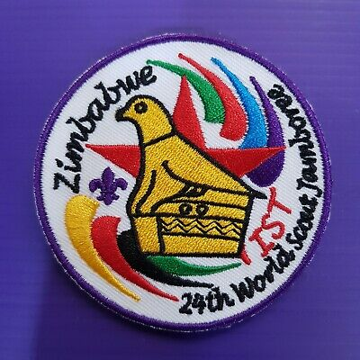 24th World Scout Jamboree 2019 Contingent OFFICIAL PATCH ZIMBABWE IST 2019 WSJ