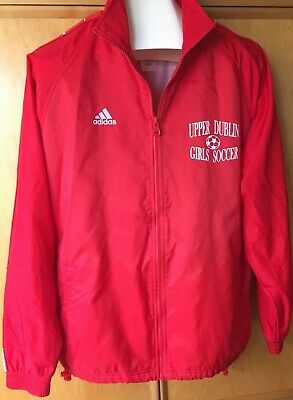 Adidas Team  Full Zip Womens Athletic Red Jacket Upper Dublin Girls Soccer S