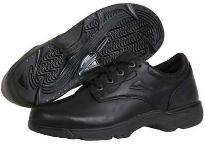 Ascent AXIS 114029 Black Leather School Shoes--5UK