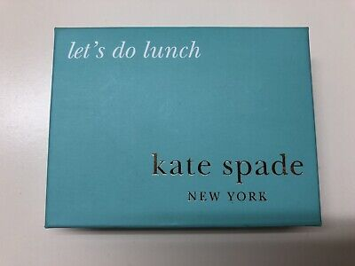 "Kate Spade Business Card Holder - NEW - Silverplate ""Lets Do Lunch"""