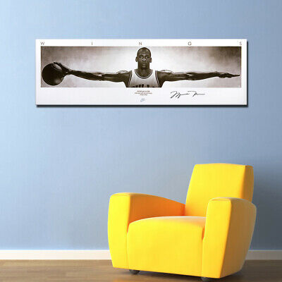 Michael Jordan Wings Poster Canvas Painting Wall Art For Living Room 16x51inch
