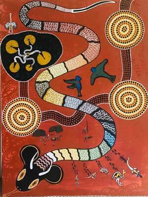 Aboriginal Artwork - Rainbow Serpent