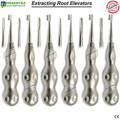 Dental Surgical Oral Root Luxating Elevators For Tooth Extraction Loosening 6PCS
