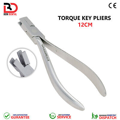 Orthodontic Torque Key Pliers Bending 12cm with Flat Tips Dental Tools pliers CE