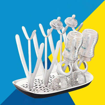 Infants Baby Feeding Bottles Drying Rack Cleaning Holder Milk Cup Nipple Storage