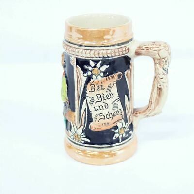 Small Porcelain Stein Embossed Decorated Inscriptions German #710