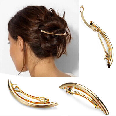 Salon use Styling Tools Golden/Silver  Hair Clip Simple  Hair grip Long Hairpin
