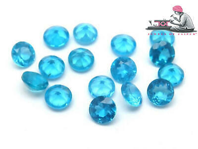 NEON APATITE NATURAL 4.00  MM ROUND CUT  BLUE OUTSTANDING NEON COLOR