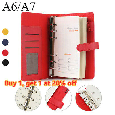 Binder Journal Leather Loose Leaf Daily Planner Notebook File Folder Notepad