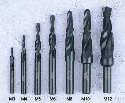 3mm - 12mm HSS Step Countersink 90° Drill Bit for Flat Head Screws Select Size