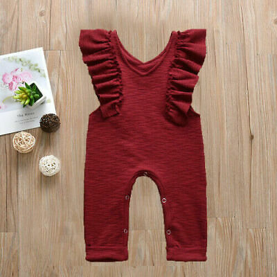 Newborn Toddler Baby Girl Clothes Sleeveless Jumpsuit Romper Bodysuit Outfits