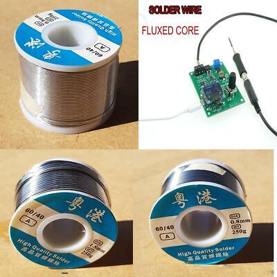 Soldering Solder Wire Fluxed Core DIY Hobbyists Electronics 60/40 Tin Lead Flux