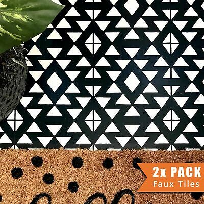 AZTEC Tile Stencil - Floor Wall Furniture Stencil for Painting