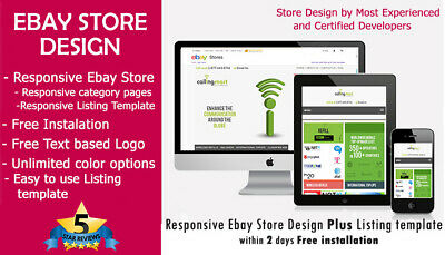 Ebay store Design Plus Listing template 2019 ebay policy Complaint Free Install