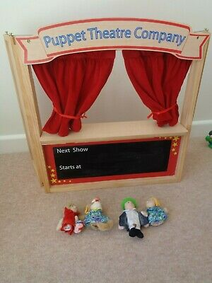 ELC  Wooden Puppet Theatre with Little Red Riding Hood Puppets