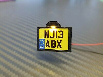 1:14 Scale Tamiya Truck/Trailers Square Illuminated Number Plate Holder
