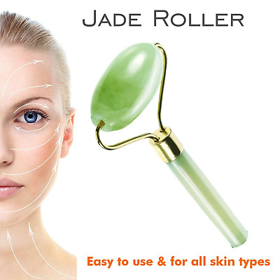 Face Massage Roller Jade Facial Massager Body Eye Neck Hand Natural Beauty Tool