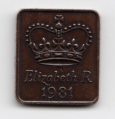 """1981 ROYAL MINT SHIELD in  """" Proof """" Condition Extremely Nice (1386)"""