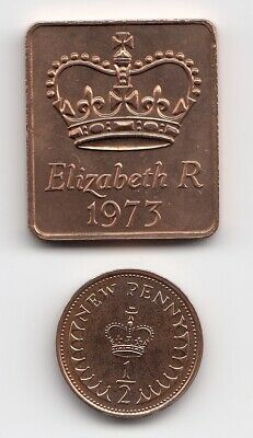 1973 SHIELD & 1/2p PROOF Condition Extremely Nice Proof 1/2p Piece   (1780)