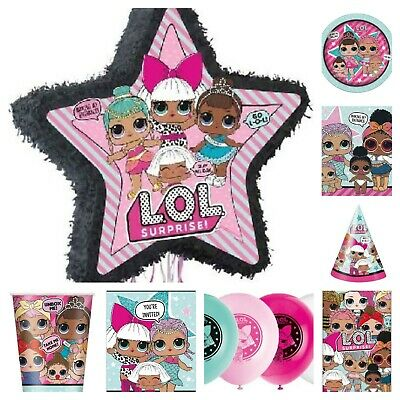 LOL Surprise! Birthday Party Range Tableware Balloons Decorations Filled Bags