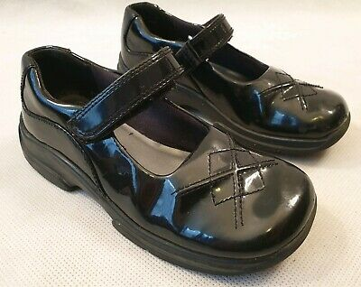 Clarks Friends Together Black Patent Leather Mary Jane Strap School Shoes 11.5 F